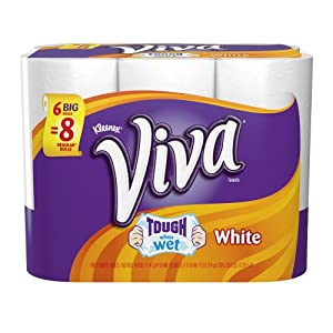 Viva Big Roll Paper Towels, White, 6 Rolls, Pack of 4 (24 rolls)
