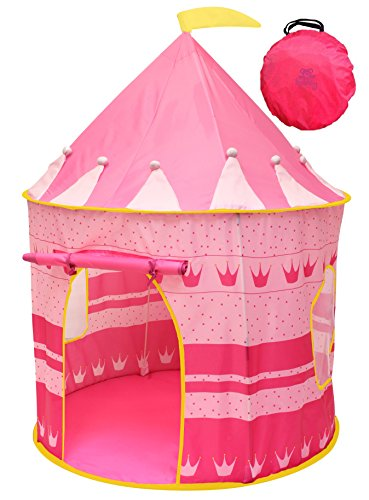 Kiddey-Princess-Castle-Kids-Play-Tent-IndoorOutdoor-Pink-Children-Playhouse-Great-Gift-Idea-for-BoysGirls-Easy-Set-up-and-Storage-Includes-a-Carrying-Case-Best-Quality