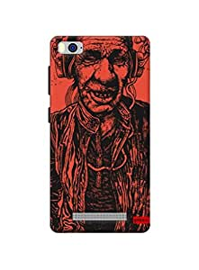 Gobzu Printed Hard Case Back Cover for Xiaomi Mi 4i - Tribal with Earphones