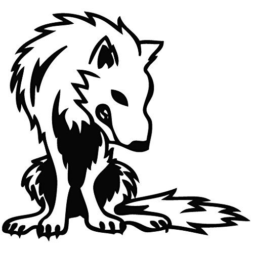Wolf Stare Food - Animal Decal Vinyl Removable Decorative Sticker for Wall, Car, Ipad, Macbook, Laptop, Bike, Helmet, Small Appliances, Music Instruments, Motorcycle, Suitcase