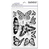 51HnBlF2lRL. SL160  Stampendous Perfectly Clear Stamps, 4 Inch by 6 Inch Sheet, Butterflies
