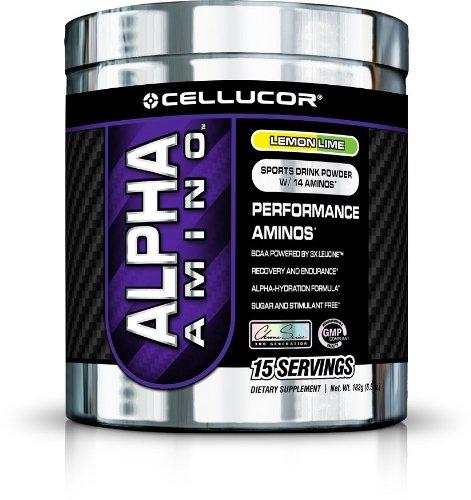 Cellucor Alpha Amino Supplement, Lemon Lime, 15 Count