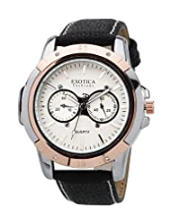 Exotica Analog White Dial Men's Watch (EFG-05-TT-DM-W)