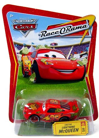 Disney / Pixar CARS Movie 1:55 Die Cast Car Series 4 Race-O-Rama Cactus Lightning McQueen - 1