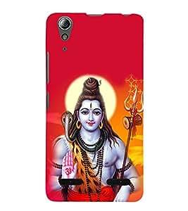 Lord Shiva 3D Hard Polycarbonate Designer Back Case Cover for Lenovo A6000 Plus