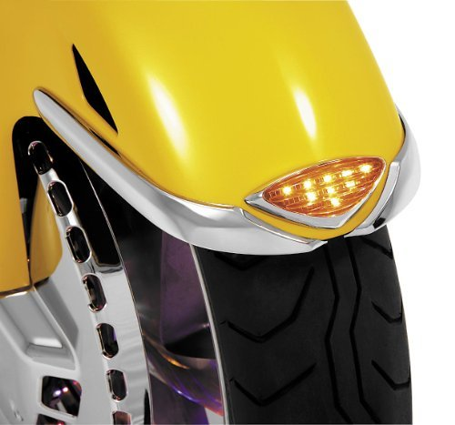 Show Chrome LED Front Fender Medallion 52-651