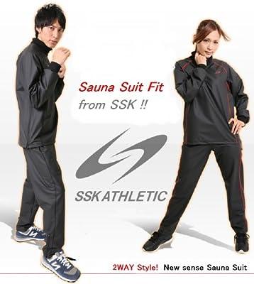 SSK サウナスーツ Fit ブラック O [ レディース メンズ 兼用 ][ インナー アウター 兼用 ]