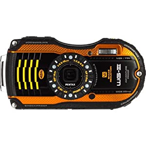 Pentax Optio WG-3 black 16MP Waterproof Digital Camera with 3-Inch LCD Screen from Pentax
