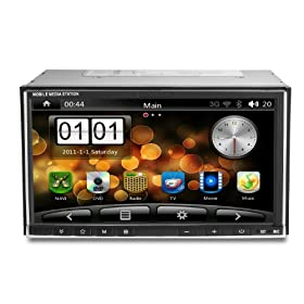Android 2.3 0S Universal Car PC 6.95 Inch digital touchscreen In-Dash Double Din Multi Media Car DVD Player with GPS (Maps free) Navigation system Support WIFI/3G (WCDMA) surf Internet Bluetooth TV iPod Radio