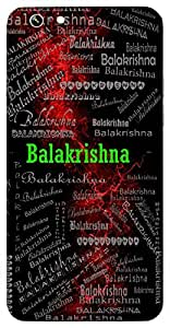 Balakrishna (Young Lord Krishna) Name & Sign Printed All over customize & Personalized!! Protective back cover for your Smart Phone : Samsung Galaxy S5 / G900I