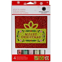 Martha Stewart Crafts Scandinavian Glitter By Number Kit