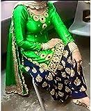 Sanjana Design Womens fashino Georgette Patiala Suit Dress Material ( KS4000_Free Size_Green)