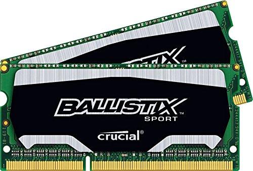 Crucial Ballistix Sport K2 Kit di Memoria RAM, SODIMM, 8 GB, 2x4 GB, Nero