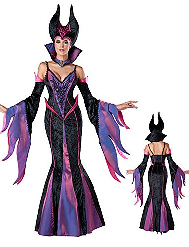 Pure-beauty the Halloween Women's 7pcs Deluxe Fairytale Witch Costume