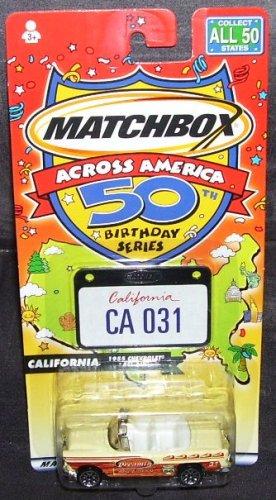 Matchbox Across America CALIFORNIA 1955 Chevrolet Bel Air Convertible