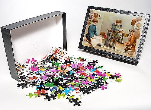 Photo Jigsaw Puzzle Of Hatmakers From Georgia Using A Singer Sewing Machine