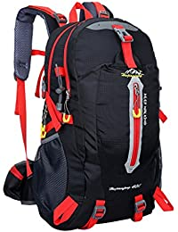 Phenovo 40L Waterproof Outdoor Backpack Sport Hiking Travel Biking Cycling Bag Black