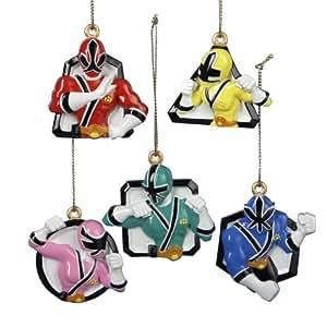 Power Rangers Samurai Mini Ornament 5 Piece Set