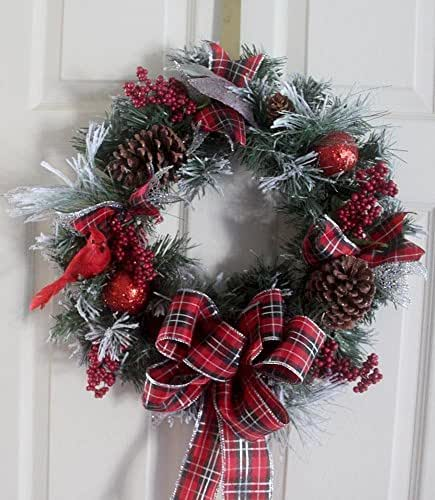 Christmas wreath holiday wreath woodland for B m xmas decorations