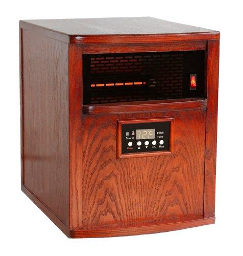 Heat Smart LT1500-NSN-KH Liberty Quartz Infrared Heater, Oak (Heat Smart Infrared Heaters compare prices)