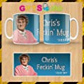 BLUE MRS BROWN'S BOYS FECKIN' MUG/CUP - Browns Boys - PERSONALISED CUSTOM - Any Name - 100% Diswasher safe - Great Birthday Christmas Or Novelty Gift - Packaged in a white smash proof mug box
