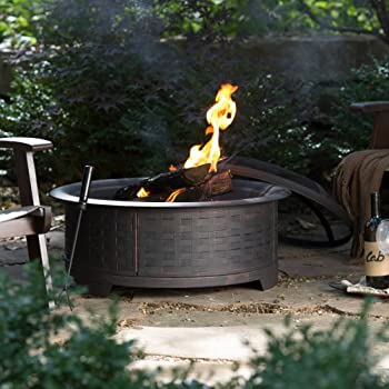Red Ember Wicker Base Design Fire Pit