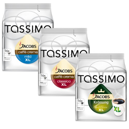 Choose Tassimo XL in Serie, The largest of Tassimo in one Set, T-Discs 3 Pack by Mondelez