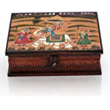 Jaipur Crafts Wooden Hand Painted Dhola Maru Jewellery Box