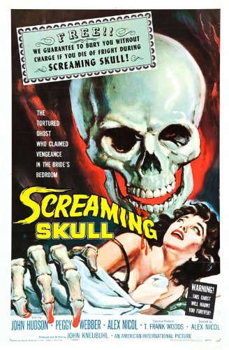 The Screaming Skull Classic Movie Poster