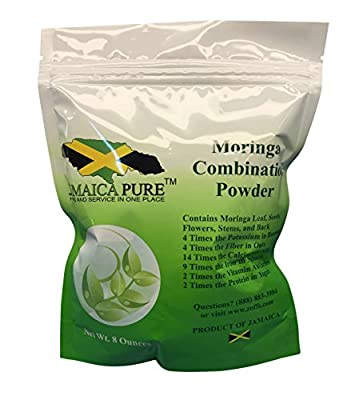 Moringa Combination Powder 8 Oz (Includes leaves, Seeds, Pods, Stems, Barks Etc)
