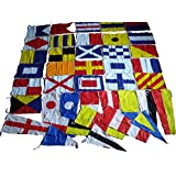 Marine Flags - Naval Signal Cotton Flags Set Of 40 - Nautical / Boat / Maritime