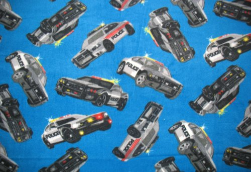 Police Cars Fleece Throw Blanket front-441320