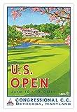 Signed 2011 U.S. Open Congressional Mini-Poster by Lee Wybranski
