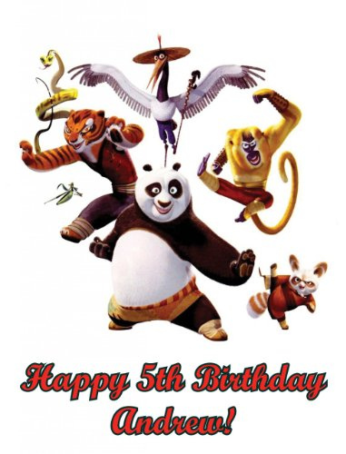 Single Source Party Supplies - Kung Fu Panda Edible Icing Image Cake Topper #1 - 8.0