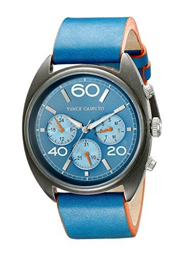 Vince la Transporter Camuto reloj infantil de cuarzo con Unisex azul esfera analógica y azul correa de piel VC/1053nvsv