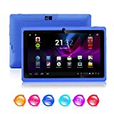 Kool TM Q88 II Blue 7 Inch Android 422 Boxchip A23 Dual Core 15GHZ CPU Mali-400 MP2 GPU Tablet PC Dual Camera 8GB HDD 3G WiFi Supports Youtube - Netflix - BBC iPlayer - Games etc 2nd Generation