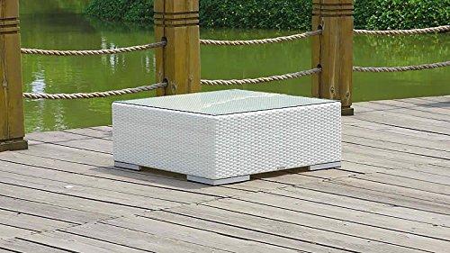 talfa Polyrattan Cube Tisch - weiß