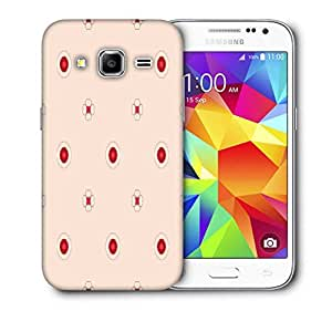 Snoogg Red Spots Flower Printed Protective Phone Back Case Cover For Samsung Galaxy CORE PRIME