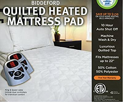 Biddeford Heated Quilted Mattress Pad - King