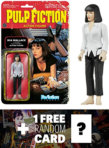 Mia Wallace: Funko ReAction x Pulp Fiction Action Figure + 1 FREE Classic Movie Trading Card Bundle (040840)
