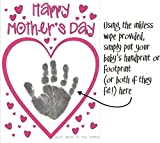 BabyRice Make your Own Mother's Day Card using YOUR Baby's Hand and Footprints Inkless Wipe Kit