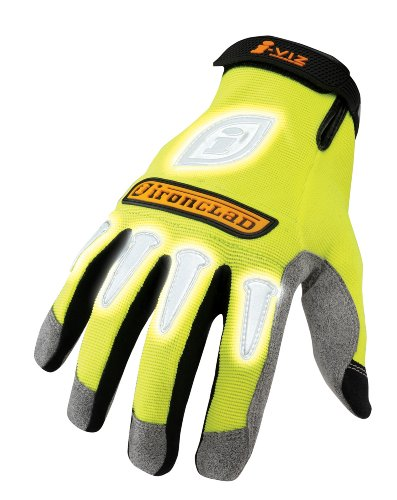 Ironclad IVG-05-XL I-Viz Reflective Gloves, Reflective Lime Green, Extra Large