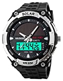 Mudder Homme 50M Waterproof Digital Sports Militaire Multifonctionnel LCD Plongée Montre, d