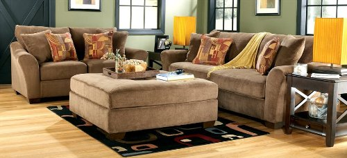 Buy Low Price AtHomeMart Brown Sofa, Loveseat, and Ottoman Set (ASLY5660138_5660135_5660108_3PC)