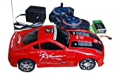 Radio Controlled Cars ,âRacing Remote Control Car,1:18-Four Channel R/C Battery&Charger Operation.5 Colours:Red,Blue,White,Yellow,Orange (Red)