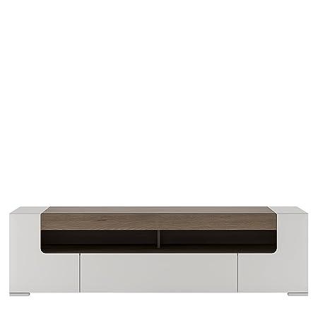 Furniture To Go Toronto TV Cabinet, White Gloss, 190 cm