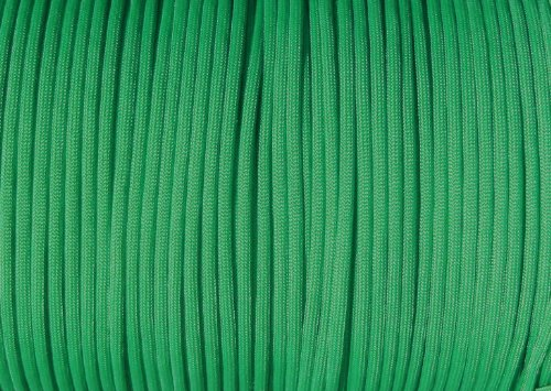 Parachute Cord Nylon 7 Strand 550lb Tested U.S MADE 100 (Kelly Green)