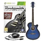 Rocksmith 2014 Xbox 360 Chitarra Elettroacustica Cutaway Singolo blu