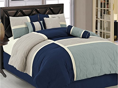 Navy blue bedding - Navy blue and brown bedroom ...