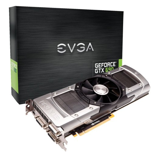 EVGA GeForce GTX690 4096MB GDDR5 512bit, Dual GPU, 2xDVI-I,DVI-D,mDisplayPort, Quad SLI Ready Graphics Card Graphics Cards 04G-P4-2690-KR